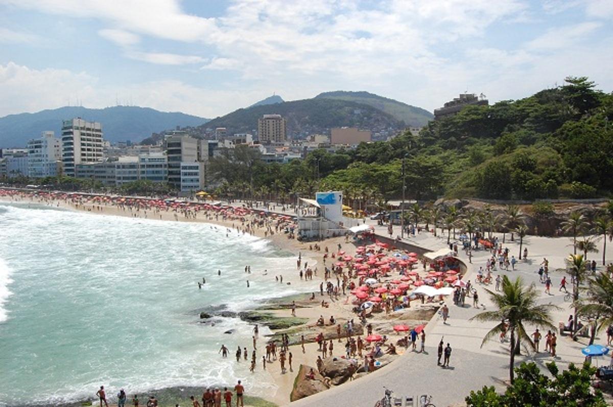 Ipanemos paplūdimys - vienas iš garsiausių ir gražiausių Rio de Žaneire. (Asmeninio albumo nuotr.)